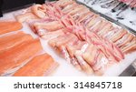 seafood counter display of fish.... | Shutterstock . vector #314845718