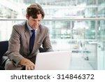 corporate businessman using... | Shutterstock . vector #314846372