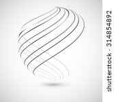 abstract curved lines. vector... | Shutterstock .eps vector #314854892