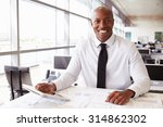 african american architect at... | Shutterstock . vector #314862302