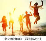 friendship freedom beach summer ... | Shutterstock . vector #314862446