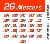 alphabet letters set. fast fire ... | Shutterstock .eps vector #314865086