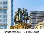 the johannes gutenberg monument ... | Shutterstock . vector #314880005