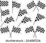 race flags  vinyl ready | Shutterstock .eps vector #31488526