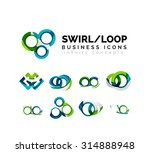 set of infinity concepts  loop... | Shutterstock . vector #314888948