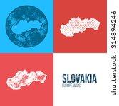 slovakia grunge retro map  ...   Shutterstock .eps vector #314894246