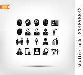 business man icons | Shutterstock .eps vector #314898842