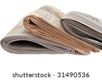 information in the newspaper | Shutterstock . vector #31490536