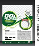 golf tournament flyer template... | Shutterstock .eps vector #314910398