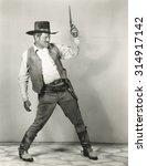 Roping In Cowboy