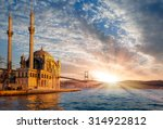 ortakoy mosque and bosphorus... | Shutterstock . vector #314922812