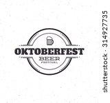 oktoberfest beer festival... | Shutterstock .eps vector #314927735