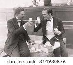 two men toasting with milk...   Shutterstock . vector #314930876
