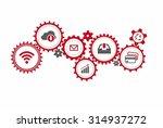 business mechanism concept.... | Shutterstock .eps vector #314937272