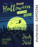 happy halloween card  ... | Shutterstock .eps vector #314952566