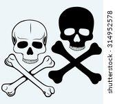 skull and crossbones. isolated... | Shutterstock . vector #314952578