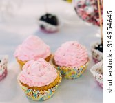 Various Dessert Sweet Cupcakes...