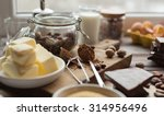ingredients for the chocolate... | Shutterstock . vector #314956496
