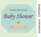 baby shower invitation template ... | Shutterstock .eps vector #314958452