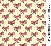 seamless pattern bow tie in... | Shutterstock .eps vector #314958686