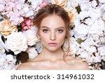 portrait of a beautiful fashion ... | Shutterstock . vector #314961032