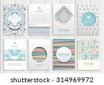 stock vector set of brochures... | Shutterstock .eps vector #314969972