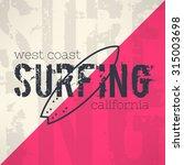 vector surf typography in... | Shutterstock .eps vector #315003698