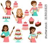 Woman Baking Cake