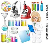 scientist with science... | Shutterstock .eps vector #315025826