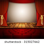 a theater stage with a red... | Shutterstock .eps vector #315027662