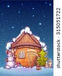 vector illustration of winter... | Shutterstock .eps vector #315051722