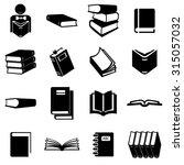 book icons set illustration | Shutterstock .eps vector #315057032
