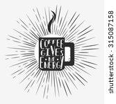 vector hand drawn typographic...   Shutterstock .eps vector #315087158