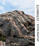 pattern in a granite rock | Shutterstock . vector #315088475