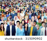 large group of diverse... | Shutterstock . vector #315090902