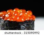 close up gunkan ikura sushi ...   Shutterstock . vector #315090992