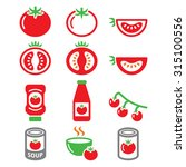 red tomato  ketchup  tomato... | Shutterstock .eps vector #315100556