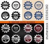 auto service vector badges set. ... | Shutterstock .eps vector #315101282