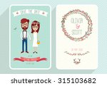 wedding invitation card... | Shutterstock .eps vector #315103682