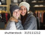 two beautiful friends with... | Shutterstock . vector #315111212