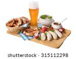 bavarian veal sausage breakfast ... | Shutterstock . vector #315112298