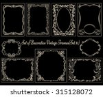 set of decorative vintage... | Shutterstock .eps vector #315128072