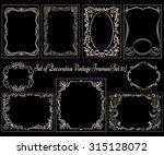 set of decorative vintage... | Shutterstock .eps vector #315128072
