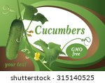 poster design with cucumber. | Shutterstock .eps vector #315140525