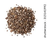 Small photo of Chia seeds on white background
