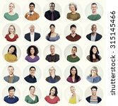 diverse people multi ethnic... | Shutterstock . vector #315145466