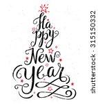 calligraphic christmas... | Shutterstock .eps vector #315150332