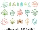 set of graphical line trees and ... | Shutterstock .eps vector #315150392