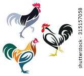 stylized rooster | Shutterstock .eps vector #315157058