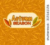 vector autumn season background   Shutterstock .eps vector #315161156